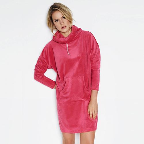 badjas kopen taubert roze badjas jurk trendy winter 2017 - 2018