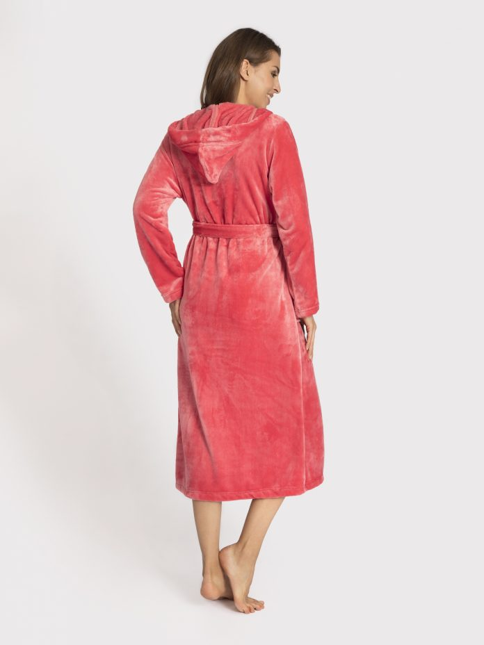 badjas dames lang roze achterkant 172636-144-6550-2