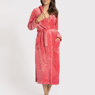 badjas lang dames roze 172636-144-6550