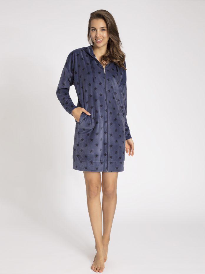 172890-144-0482 Taubert lang badjas vest blauw