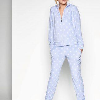 Taubert luxe huispak met sterretjes lichtblauw