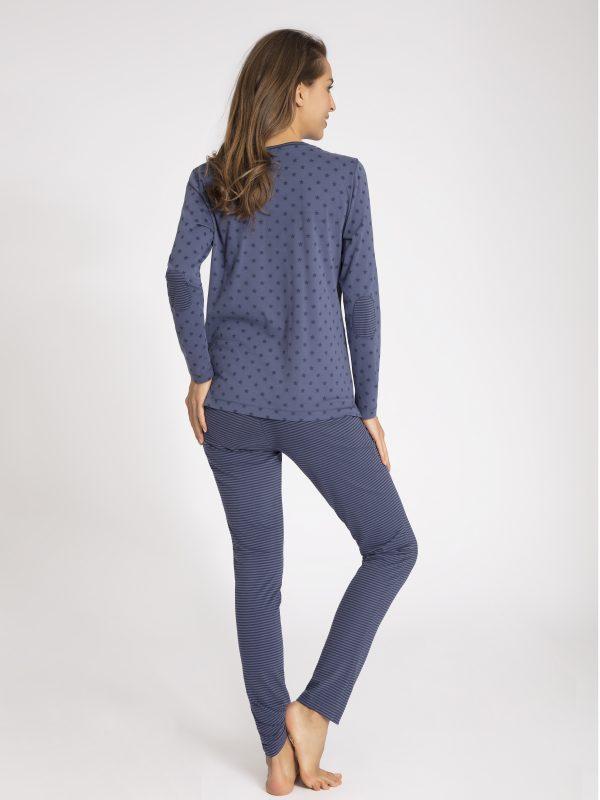 taubert pyjama blauw met ster 172893-56452-SET-0482