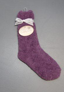 Cuddly Socks fluffy sokken huissokken dames trendy winter 2017 paars
