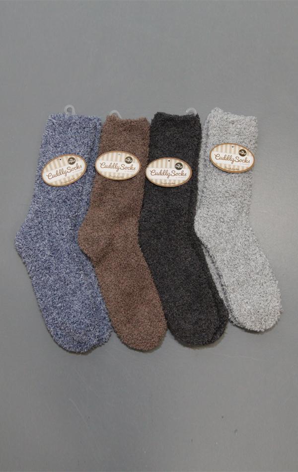 Cuddly Socks fluffy sokken heren huissokken trendy winter 2017 - 2018