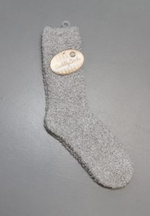 Cuddly Socks huissokken heren mannen trendy winter 2017 grijs fluffy sokken