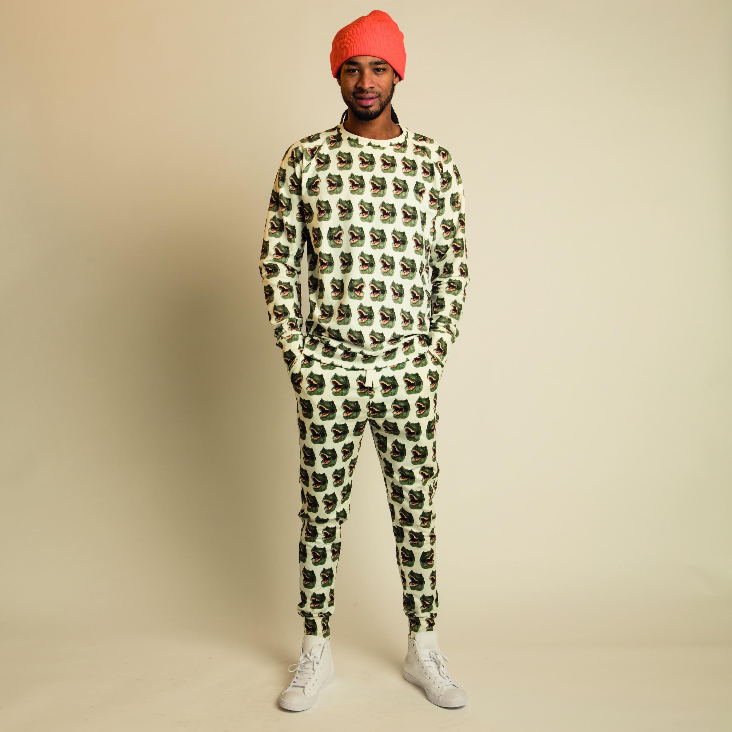 10f5b895467 SNURK pyjama loungewear trui broek dino heren trendy winter 2017-2018