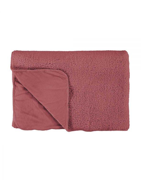 trendywinter essenza lammy plaid roze homewear